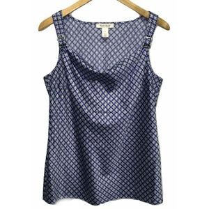 White House Black Market Navy Blue Tank Cami Sz M